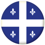 Quebec Province Flag 58mm Mirror